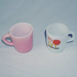 2 Anchor Hocking coffee mug cups McDonalds EUC
